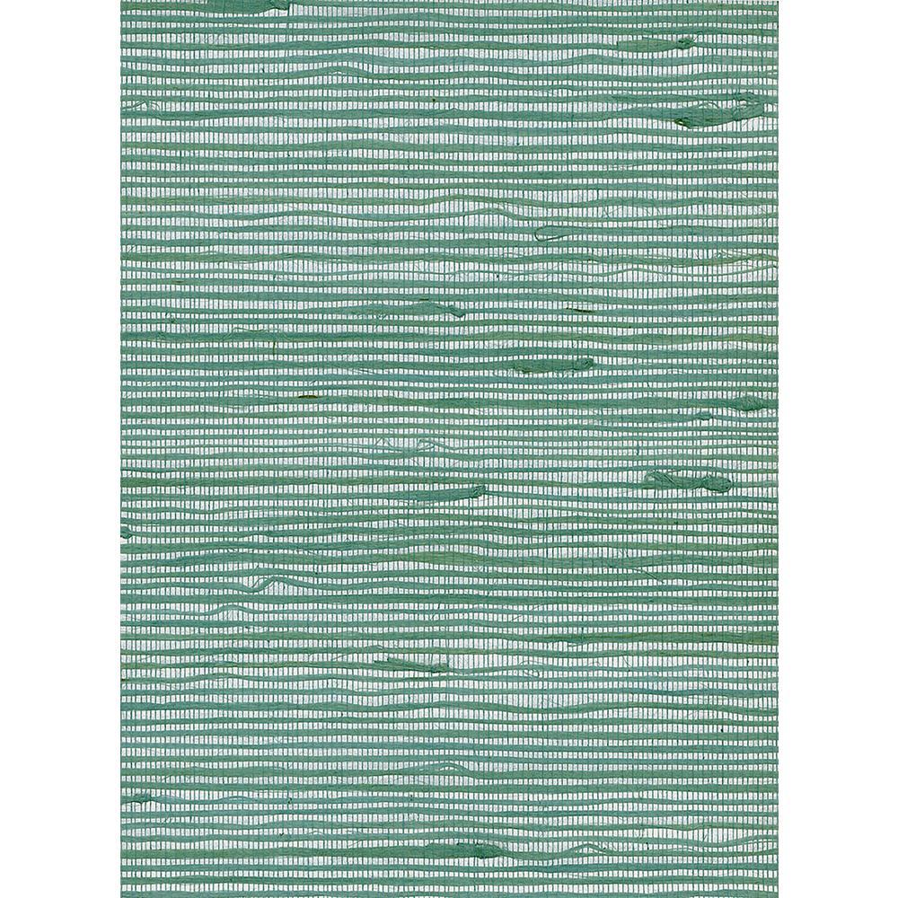Ocean Green Jute Grasscloth Wallpaper