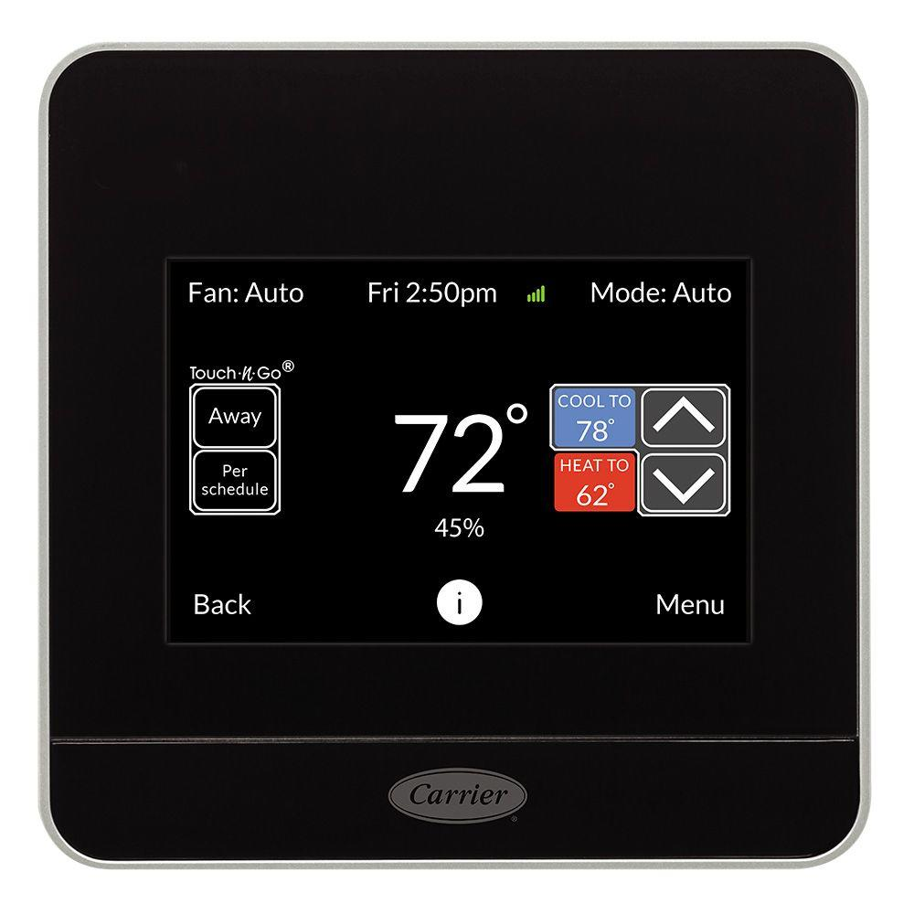 blacks carrier programmable thermostats 21026670 64_1000 carrier cor 7 day programmable wi fi thermostat with energy carrier thermidistat wiring diagram at crackthecode.co