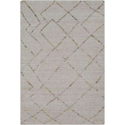 Absolon Khaki 8 ft. x 10 ft. Area Rug