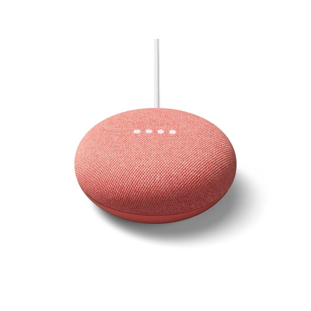 Google Nest Mini 2nd Generation with Google Assistant in Coral