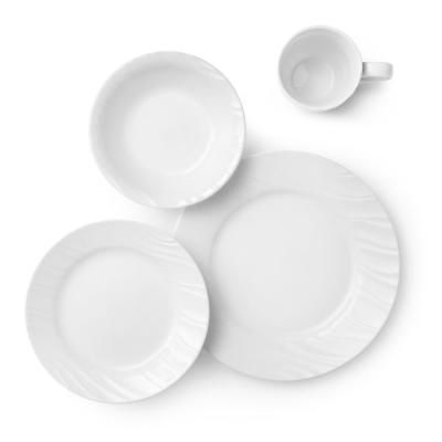 Boutique 16-Piece Swept Dinnerware Set