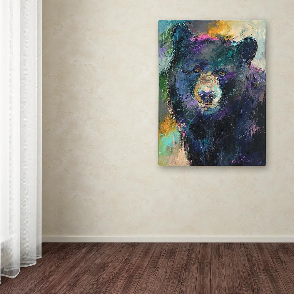"24 in. x 18 in. ""Art Bear"" by Richard Wallich Printed Canvas Wall Art"