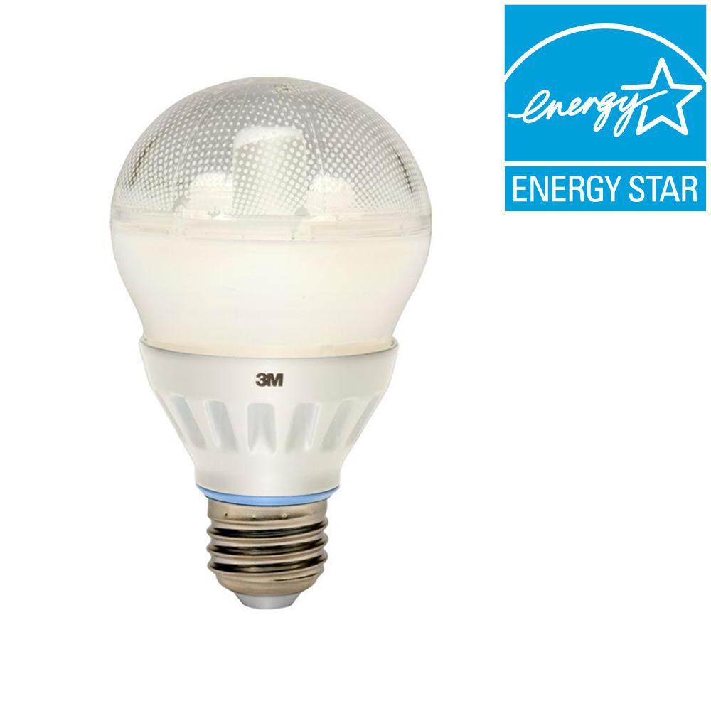3M 60W Equivalent Daylight (5000K) A19 LED Light Bulb