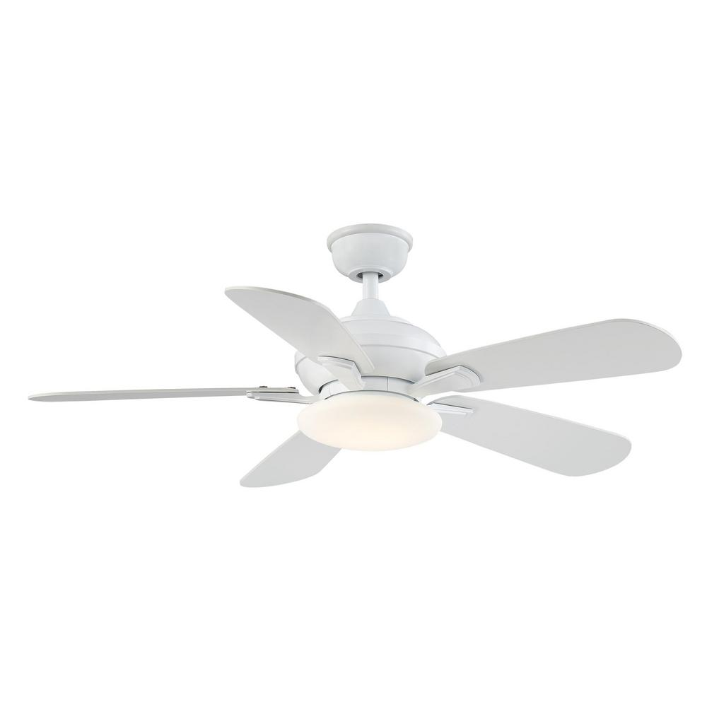 Home Decorators Collection Benson 44 in. LED White Ceiling Fan with Light and Remote Control