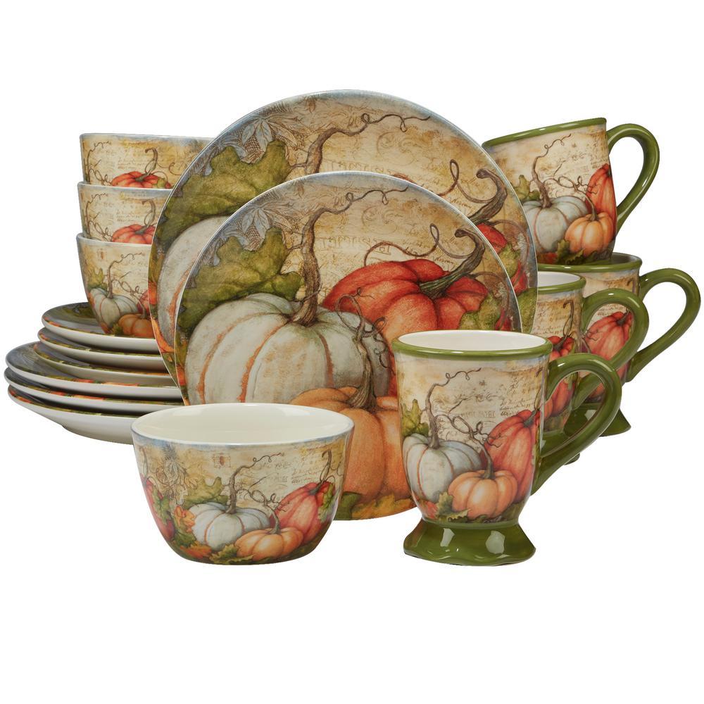 Autumn Fields by Susan Winget 16-Piece Dinnerware Set