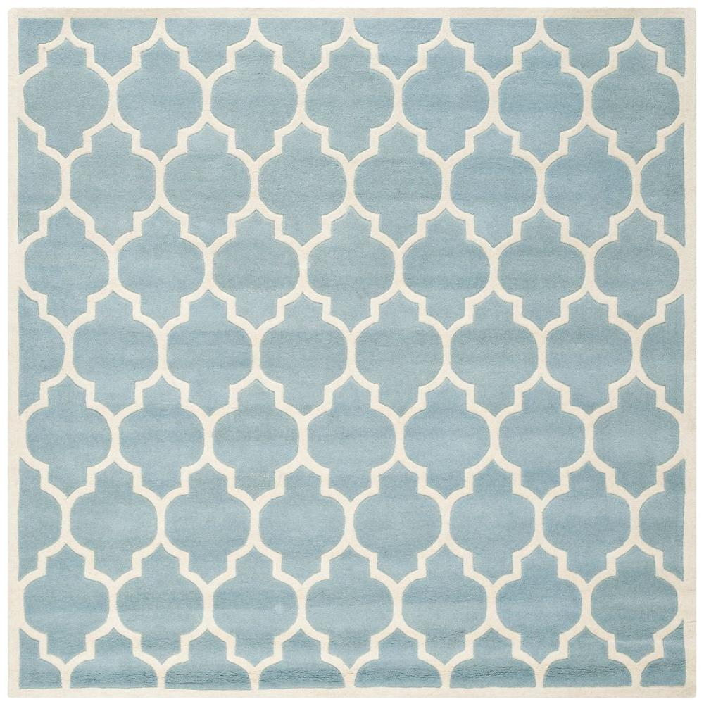 Safavieh Chatham Blue/Ivory 8 ft. 9 in. x 8 ft. 9 in. Square Area Rug
