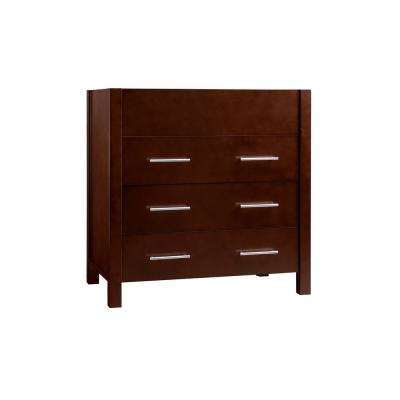 H Vanity Cabinet Only In Dark Cherry