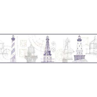 Inspired By Color Architectural Lighthouse Wallpaper Border