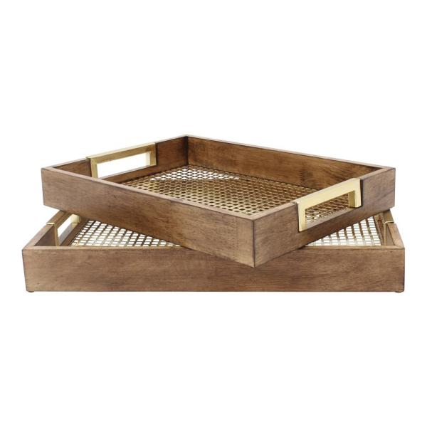 Kate and Laurel Hanneli Gold Decorative Tray (Set of 2) 209638
