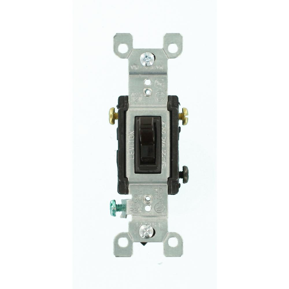 Leviton Decora 15 Amp 3 Way Switch Brown R60 05603 2ds The Home Depot To A Existing Single Pole Light Circuit Askmediy Toggle