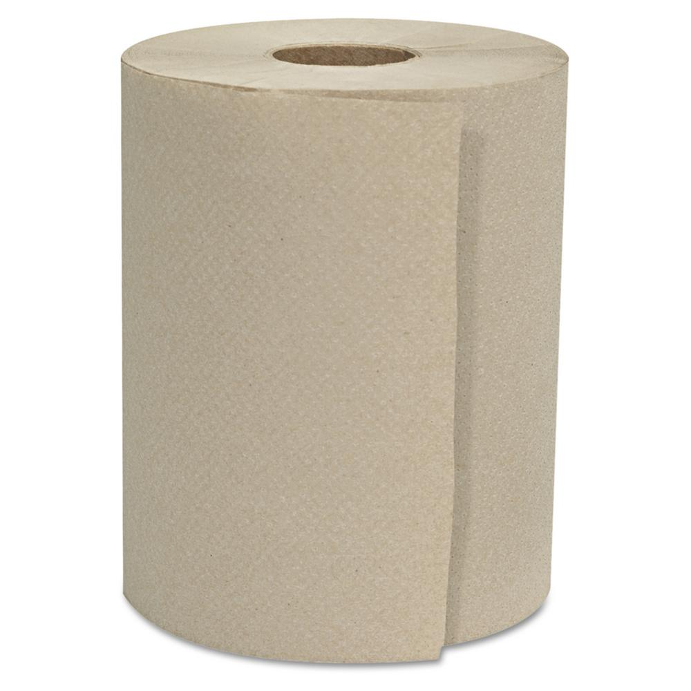 8 in. x 800 ft. 1-Ply natural Hardwound Roll Towels (6
