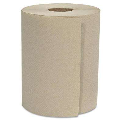 8 in. x 800 ft. 1-Ply natural Hardwound Roll Towels (6 Rolls/Carton)