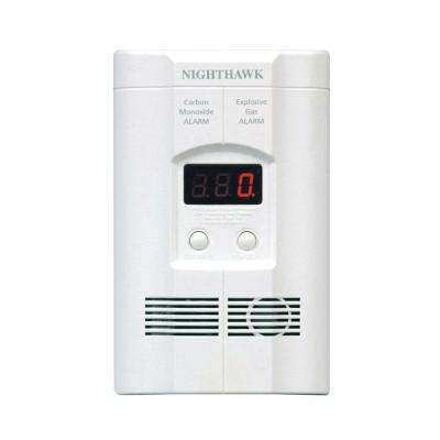 Plug-In Carbon Monoxide and Explosive Gas Detector with 9V Battery Backup and Digital Display