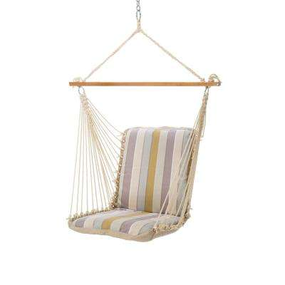 Single Sunbrella Cushioned Hammock Swing in Milano Dawn