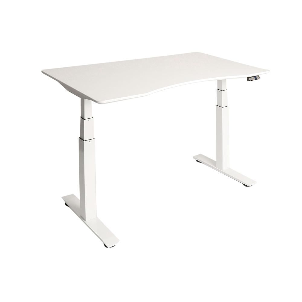 Seville Classics Airlift White S3 Electric Standing Desk Frame With