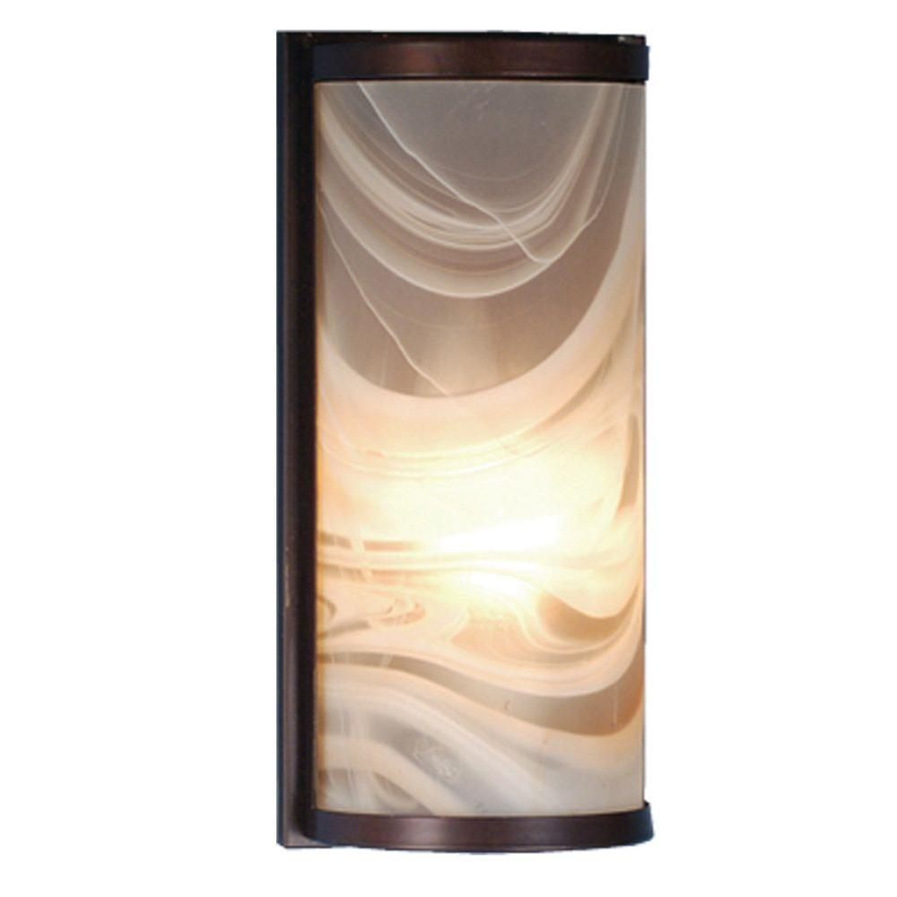 Illumine 1 Light Cylinder Fused Wall Sconce