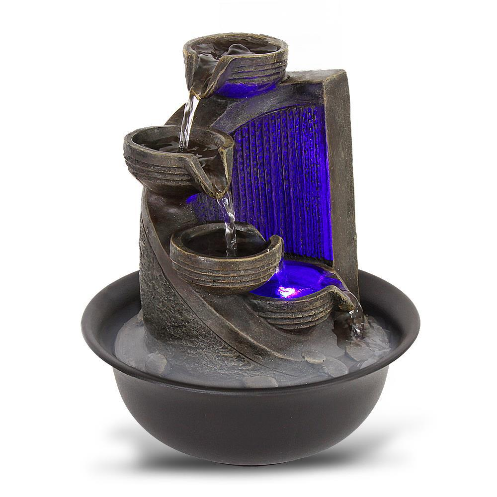 Serenelife Relaxing Tabletop Decoration Water Fountain