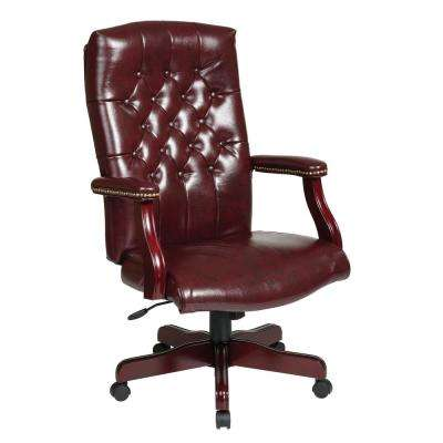 Traditional Executive Chair with Padded Arms