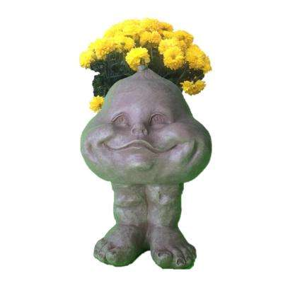 Stone Wash Baby Bro Muggly Planter Statue Holds 3 In. Pot