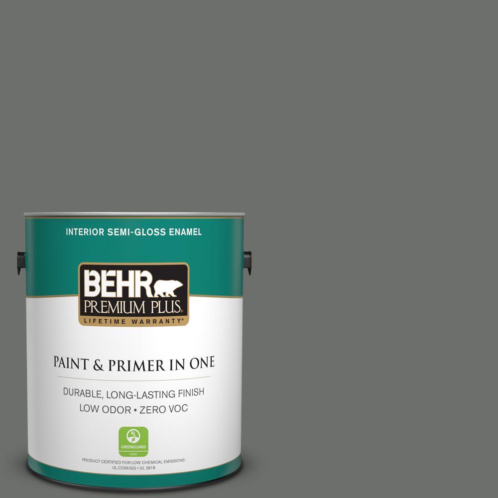 1 gal. #PPU24-05 Ancestral Zero VOC Semi-Gloss Enamel Interior Paint
