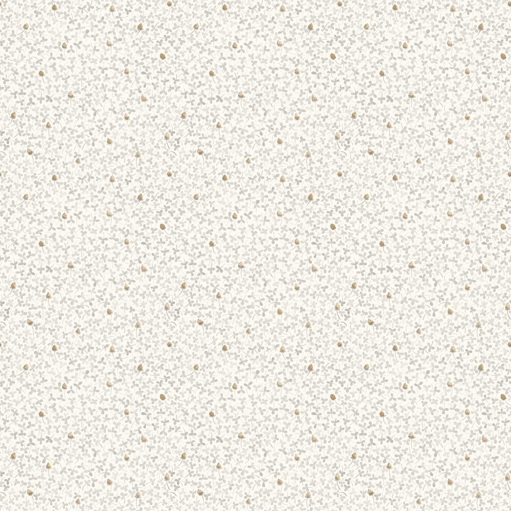 Lark White Botanical Wallpaper