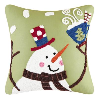 Green 16 in.  x 16 in. Toasty Wishes Pillow
