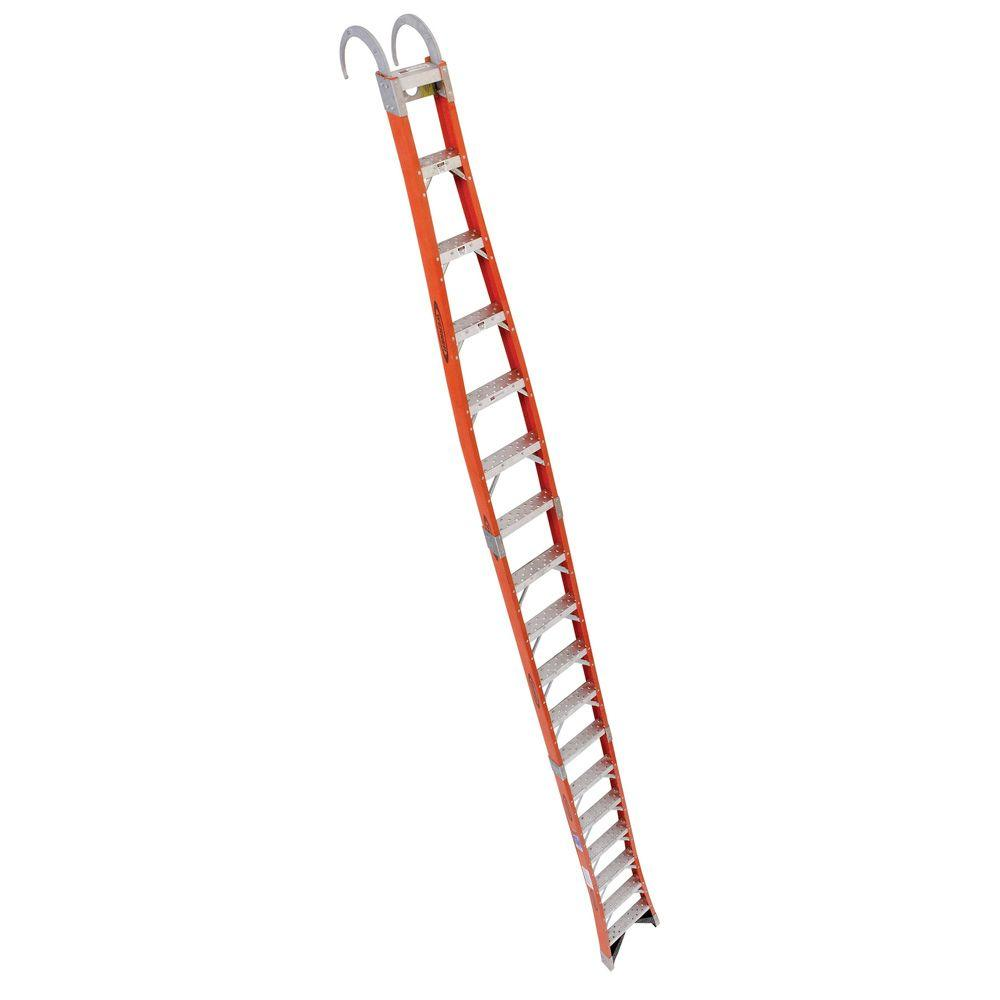 Werner 32 Ft Fiberglass Extension Ladder With 300 Lb