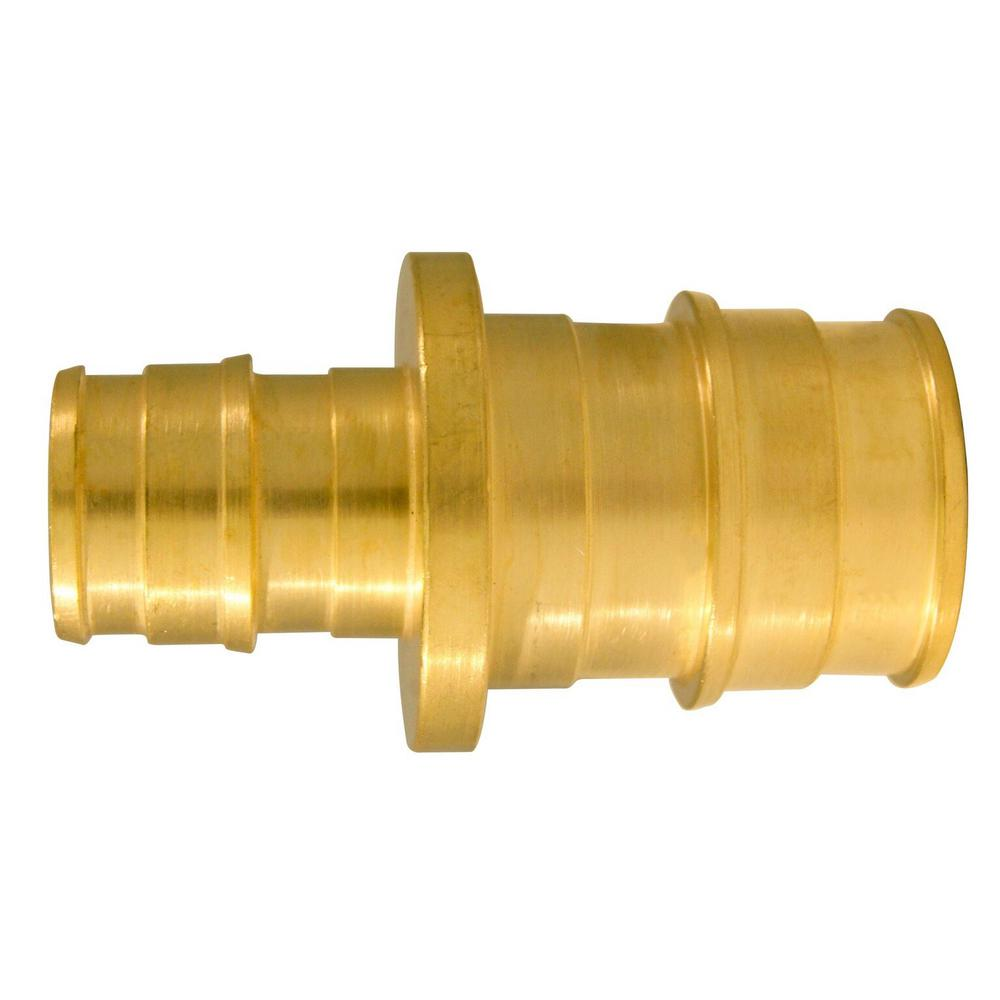1/2 in. x 3/4 in. Brass PEX-A Reducing Barb Coupling (5-Pack)