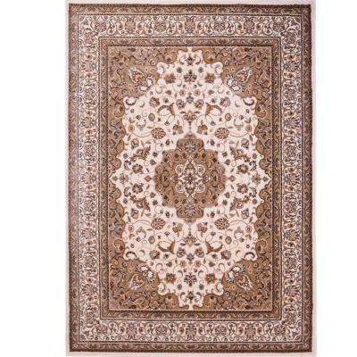 Bazaar Trim HD2412 Ivory 7 ft. 10 in. x 10 ft. 1 in. Indoor Area Rug