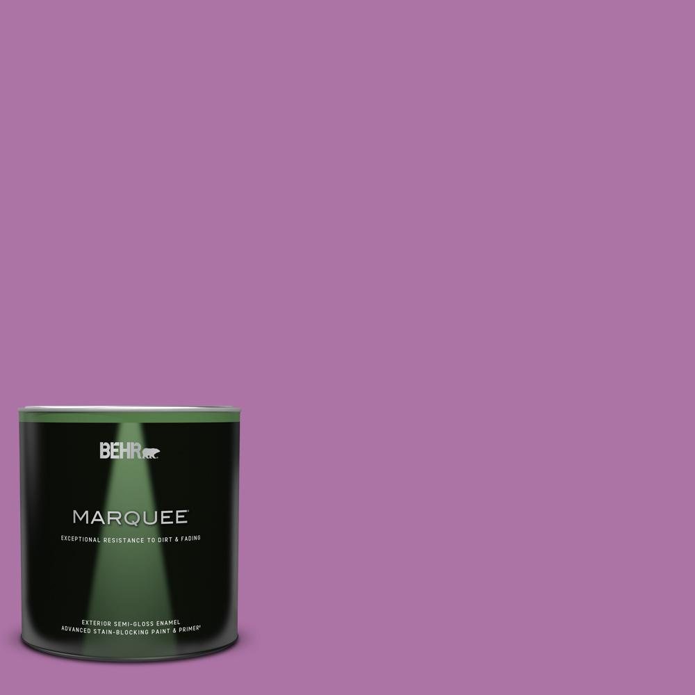 Behr Marquee 1 Qt 670b 6 Orchid Kiss Semi Gloss Enamel Exterior Paint And Primer In One 545304 The Home Depot