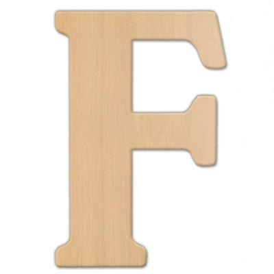 15 in. Oversized Unfinished Wood Letter (F)