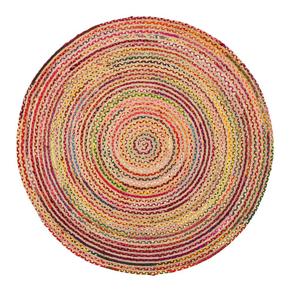 Merida Multicolored 6 ft. Round Area Rug