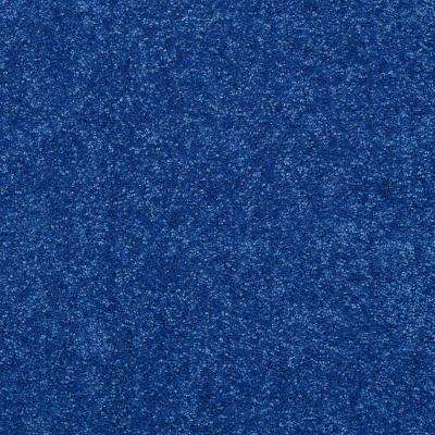 Carpet Sample - Watercolors I 12 - In Color Navy Texture 8 in. x 8 in.
