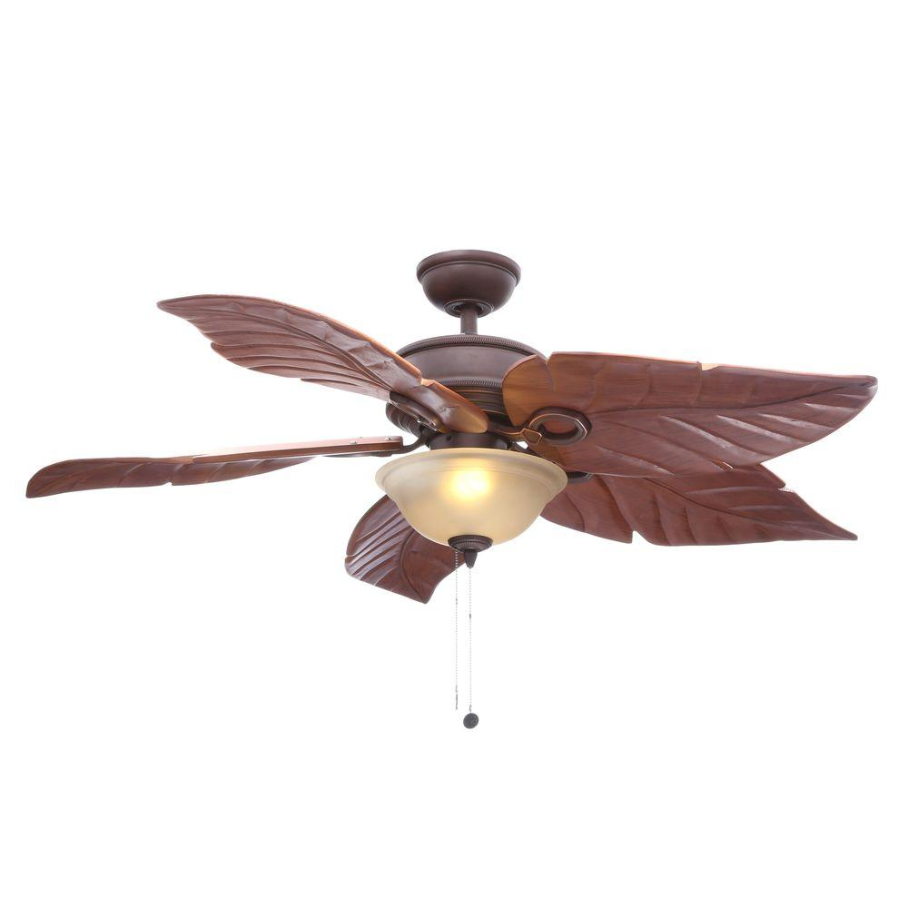 Hampton Bay Costa Mesa 56 In Led Indoor Outdoor Mediterranean Bronze Ceiling Fan With Light Kit 51656 The Home Depot