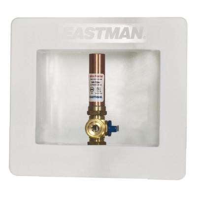 1/2 in. Expansion PEX Plastic Ice Maker Outlet Box with Hammer Arrestor