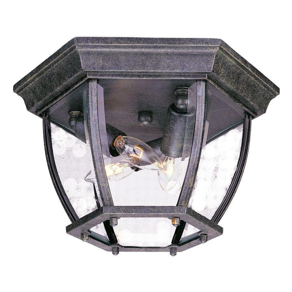 Acclaim Lighting Flushmount Collection Ceiling-Mount 3-Light Outdoor Stone Light Fixture