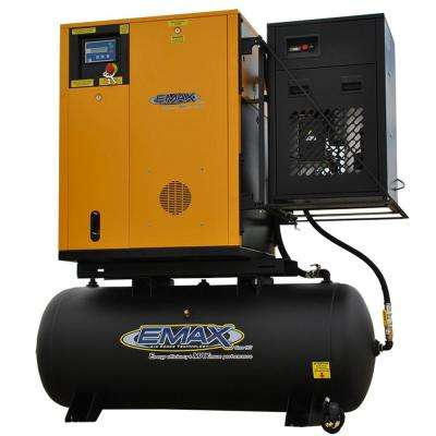 Premium Series 120 Gal. 10 HP 3-Phase Electric Variable Speed Rotary Screw Air Compressor with Refrigerated Dryer