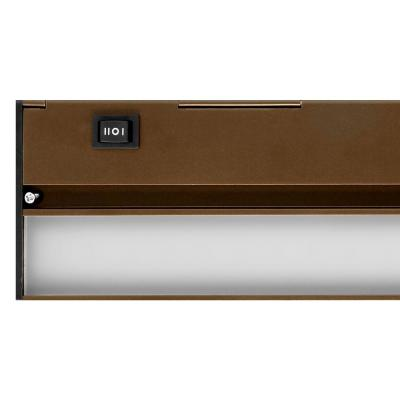 NUC 8 in. LED Oil-Rubbed Bronze Under Cabinet Light with Hi Low Off Switch