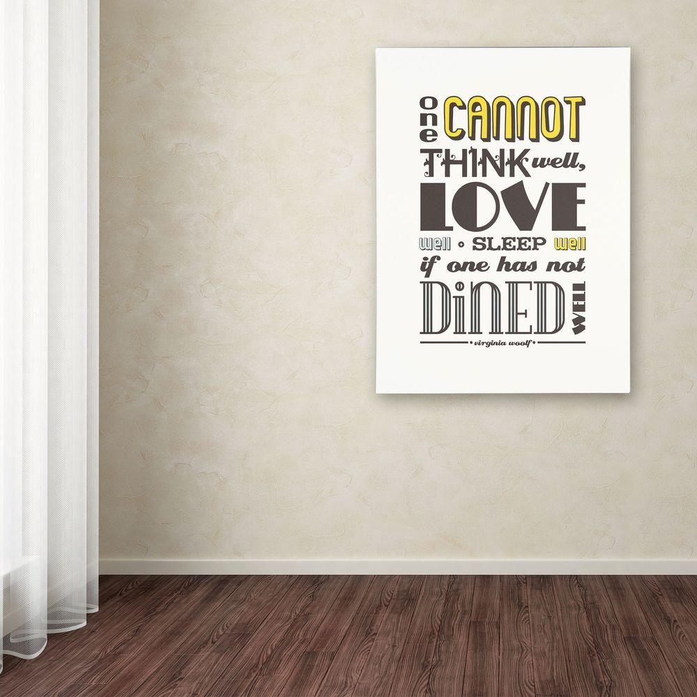 null 24 in. x 18 in. Dined Well I Canvas Art
