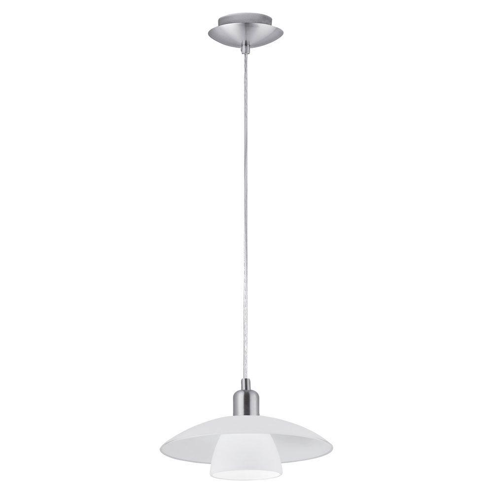 Brenda 1-Light Matte Nickel Pendant