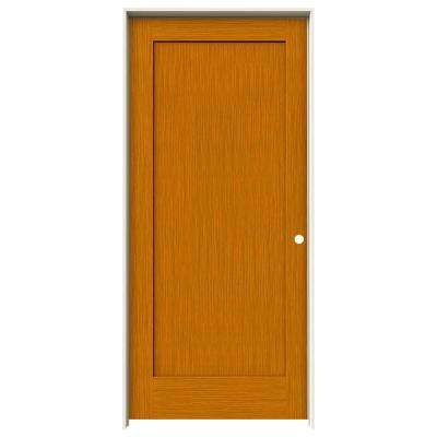 36 in. x 80 in. Madison Saffron Stain Left-Hand Solid Core Molded Composite MDF Single Prehung Interior Door