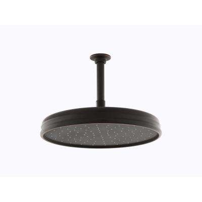 1-spray Single Function 12 in. Traditional Round Rain Showerhead in Oil-Rubbed Bronze