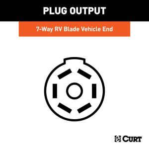 CURT Custom Vehicle-Trailer Wiring Harness, 7-Way RV Blade Output, Select  Ford F-150, Quick Electrical Wire T-Connector-56413 - The Home DepotThe Home Depot