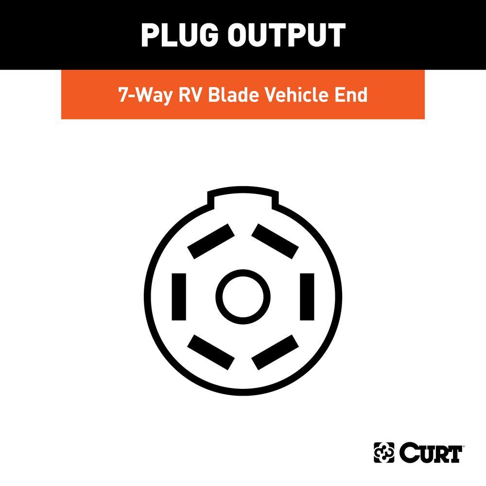 [SCHEMATICS_48DE]  CURT Custom Wiring Harness (7-Way RV Blade Output)-56413 - The Home Depot | 7 Way Wiring Harness |  | The Home Depot