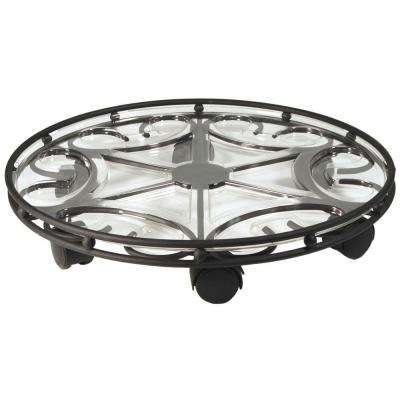 Saucer Caddy Pro 21 in. Black Plant Caddy