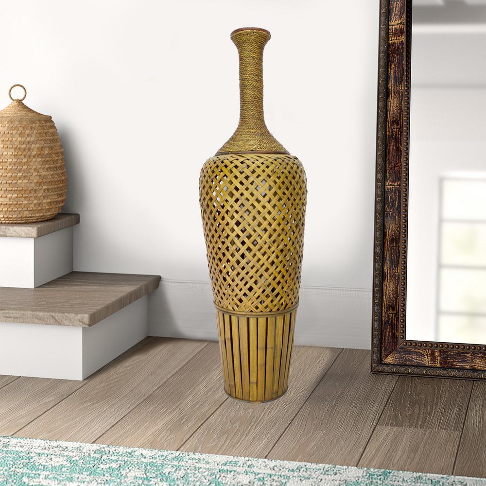 Shelly Multi-Color Bamboo Decorative Vase