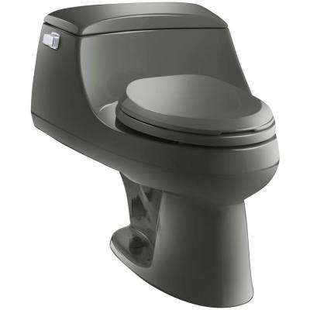 San Raphael 1-piece 1.6 GPF Single Flush Elongated Toilet in Thunder Grey