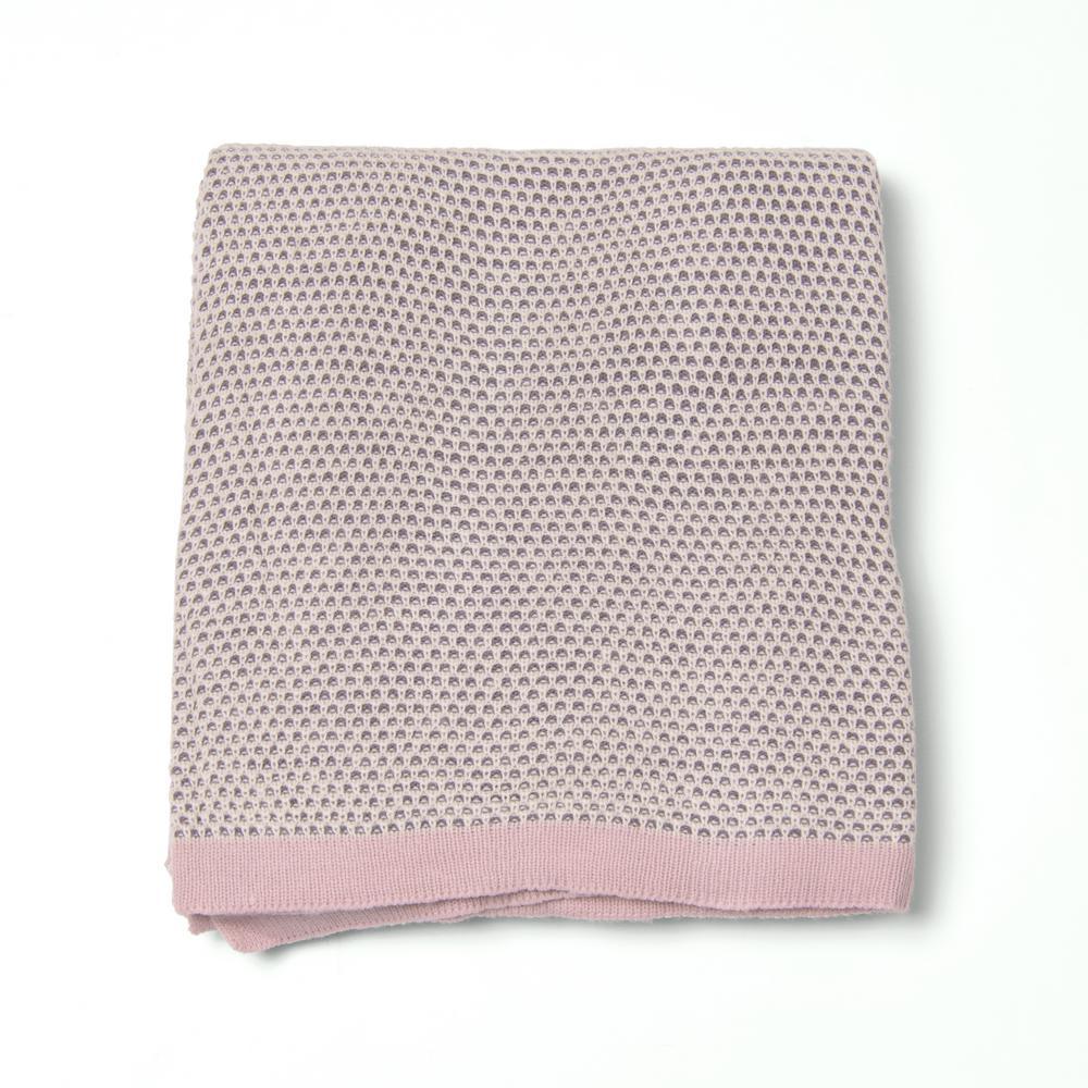 Woven Honeycomb Pink Acrylic Throw