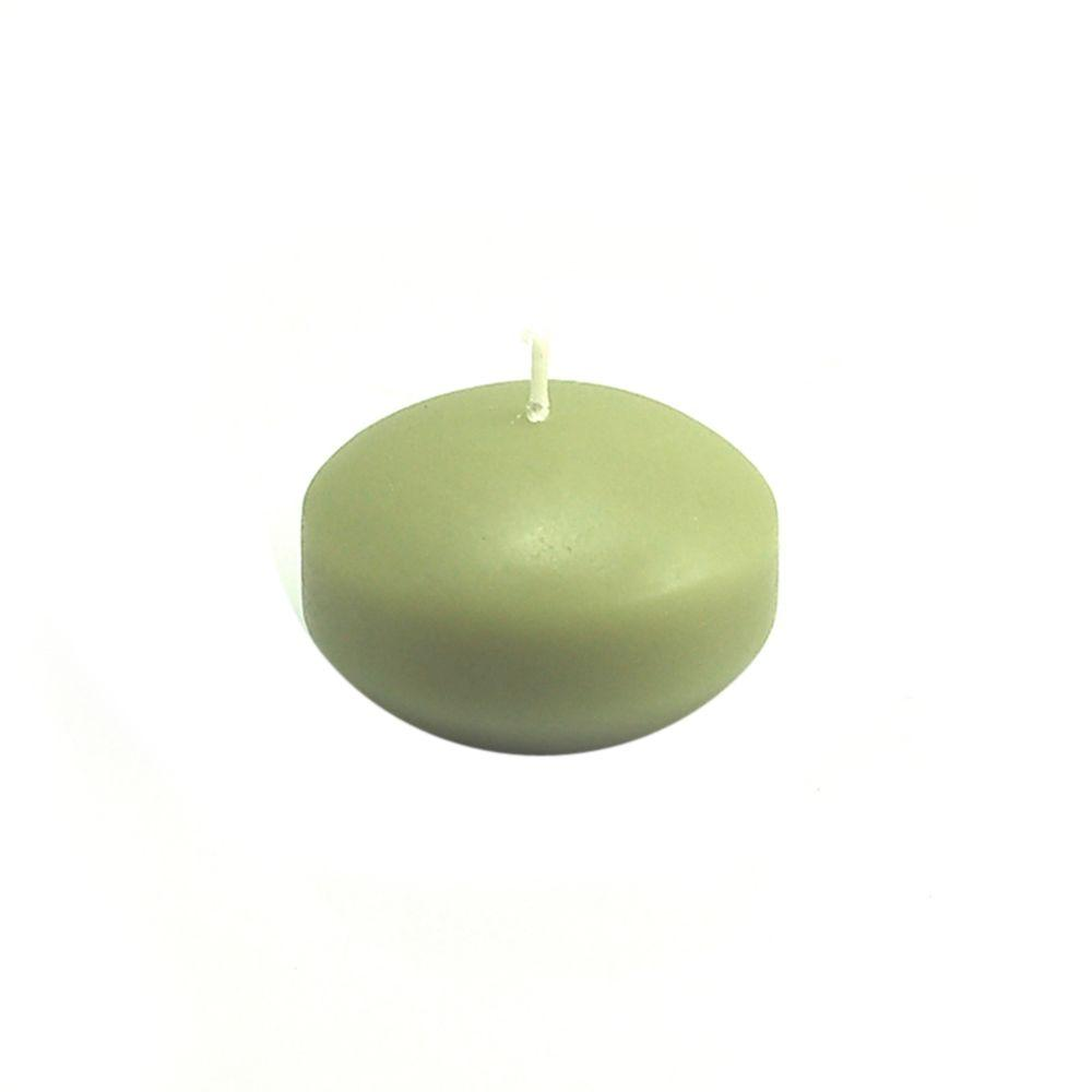 1.75 in. Sage Green Floating Candles (Box of 24), Greens