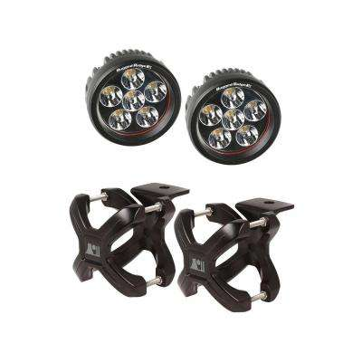 1.25 in. to 2 in. X-Clamp Light Mount and 3.5 in. Round LED Light Kit (2-Pack)